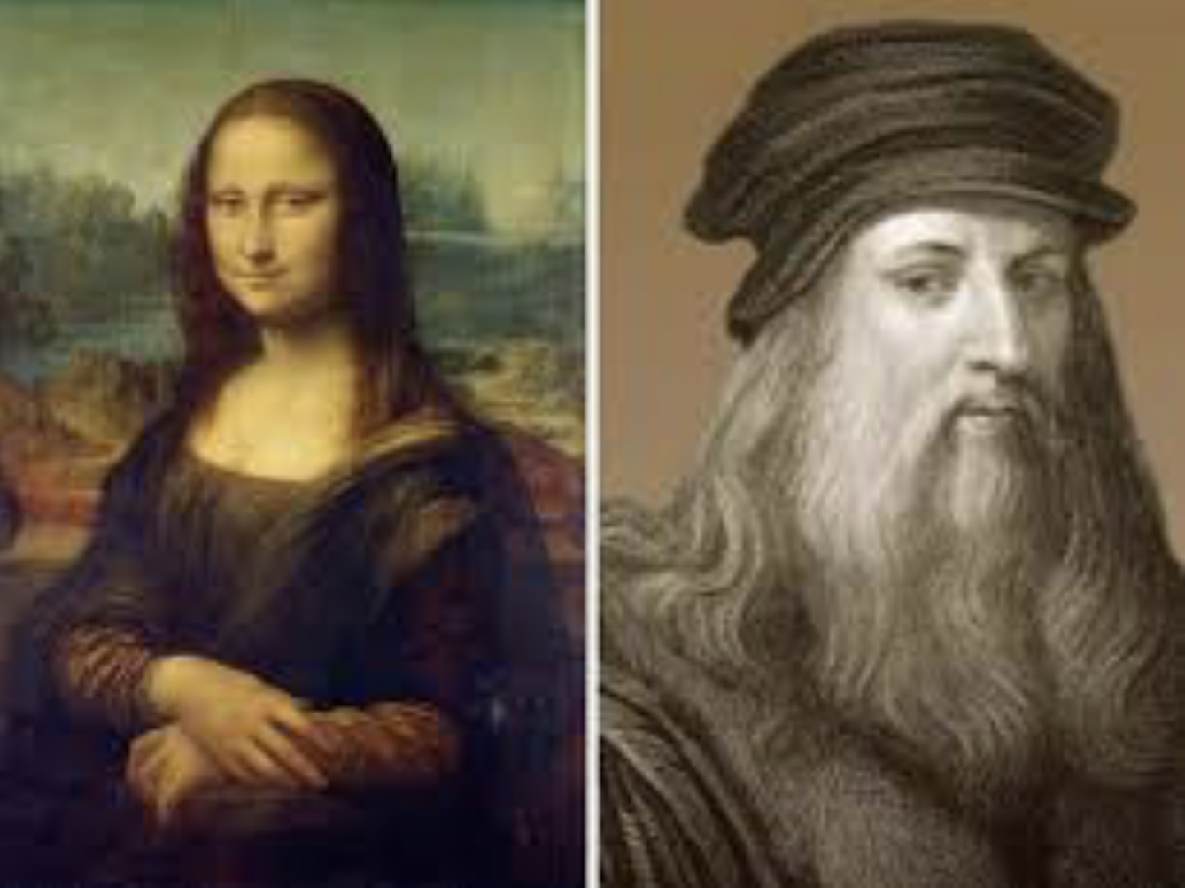 Mona Lisa and Leonardo Davinci